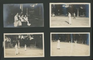 AFFECTIONATE WOMEN, OUTDOORS, SPORTS, AND COSTUMES 1910's PHOTO ALBUM