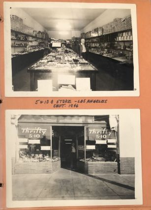 CALIFORNIA PENNY ARCADE 5&10 STORES 1940s-1960s PHOTO ALBUM