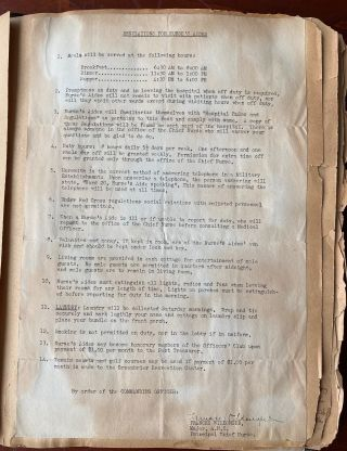 WWII ERA NURSE'S SCRAPBOOK OF LETTERS AND PHOTOS