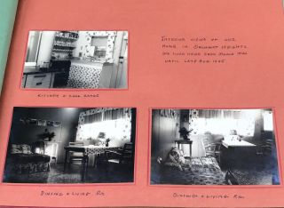 WWII NAVAL WORKER IN ORCHARD HEIGHTS,WASHINGTON BEAUTIFULLY ANNOTATED PHOTO ALBUM