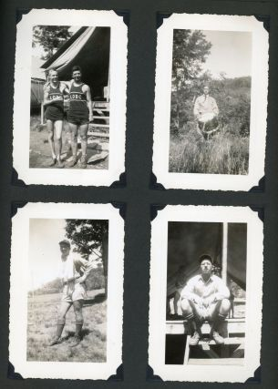 BOYS SUMMER CAMP 1930s - 1950s PHOTO ALBUM