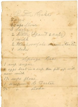 HANDWRITTEN RECIPES RECEIPTS MILTON MAINE 19th C.