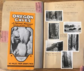 1930 SCRAPBOOK TRIP TO NORTHWEST, CANADA and CALIFORNIA